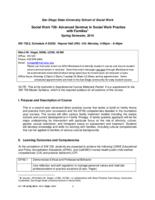 SWORK 739: Advanced Seminar in Social Work Practice with Families, Section 02
