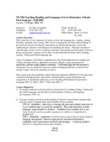 TE 930 Teaching Reading and Language Arts in Elementary Schools, Section 4