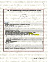 PLC 603 Community and Schools in a Diverse Society