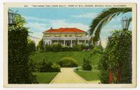"""The house that jokes built"", Home of Will Rogers, Beverly Hills, California"