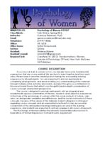 WMNST 325 Psychology of Women, Section 03