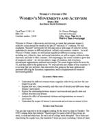 WMNST 530 Women's Movements and Activism