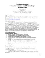 WMNST 382 Gender, Science, and Technology, sections 01 and 02