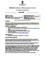 RWS 200 Rhetoric of Written Arguments in Context, Section 85