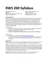 RWS 200 Rhetoric of Written Arguments in Context, Section 90