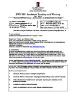 RWS 280 Academic Reading and Writing, Section 5