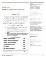 RWS 100 Rhetoric of Written Argument, Section 74