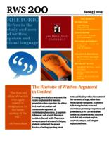 RWS 200 Rhetoric of Written Argument in Context, Sections 8, 28, and 87