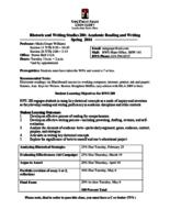 RWS 280 Academic Reading and Writing, Sections 11 and 26