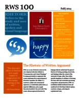 RWS 100 Rhetoric of Written Argument, Sections 15 and 23