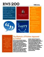 RWS 200 Rhetoric of Written Argument in Context, Sections 20 and 47