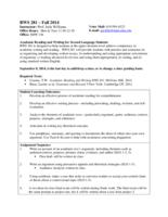 RWS 281 Academic Reading and Writing for Second Language Learners, Section 1