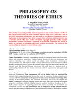 PHIL 528 Theory of Ethics