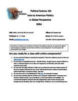 POL S 101 Introduction to American Politics in Global Perspective, Section 14