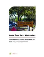 Lemon Grove: Parks & Perceptions