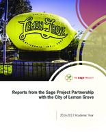 Reports from the Sage Project Partnership with the City of Lemon Grove