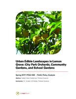 Urban Edible Landscapes in Lemon Grove: City Park Orchards, Community Gardens, and School Gardens