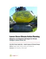Lemon Grove Climate Action Planning: Mitigation and Adaptation Strategies for Climate Change in Lemon Grove, CA