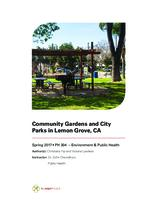 Community Gardens and City Parks in Lemon Grove, CA