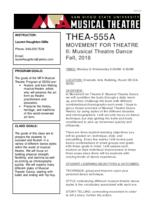 THEA 555A Movement for Theatre II
