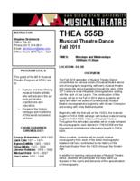THEA 555B Musical Theatre Dance