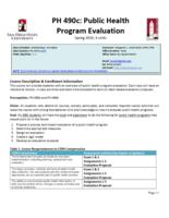 P H 490C Public Health Program Evaluation
