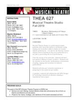 THEA 627 Musical Theatre Studio