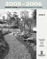2005-2006 General Catalog and Announcement of Courses