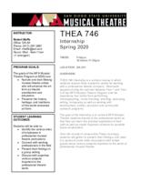 THEA 746 Theatre Internship