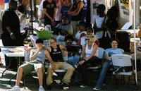 Youth Pride attendees sitting, 2004