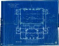 Central Portion and First Floor Plan, San Diego Normal School, 1903