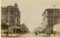 Downtown San Diego, 5th and G streets, 1889