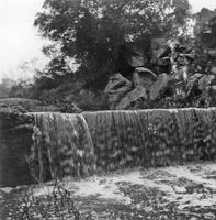 Waterfall at Los Coches Dam, 1890