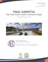 70th Street Trolley Station Pedestrian Bridge - Atlas Civil Engineering