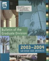 2003-2004 Bulletin of the Graduate Division
