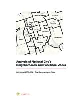 Analysis of National City's Neighborhoods and Functional Zones