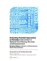 Evaluating Potential Approaches to Homeless Intervention in National City Policing, Services, and Empowerment
