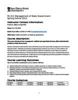 P A 312 Management of State Governments