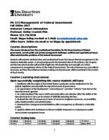 P A 315 Management of the Federal Government