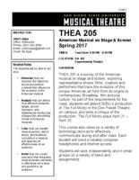 THEA 205 American Musical