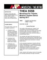 THEA 555B Movement for Theatre
