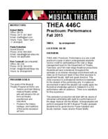 THEA 446C Practicum: Performance, Section 2