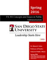 P A 301 Concepts and Issues in Public Administration, section 02