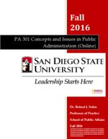 P A 301 Concepts and Issues in Public Administration