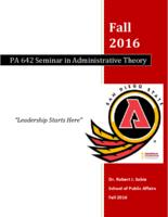 P A 642 Seminar in Administrative Theory