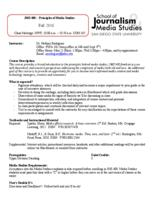JMS 408 Principles of Media Studies